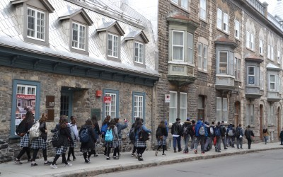 Students discover the beauty of Québec City